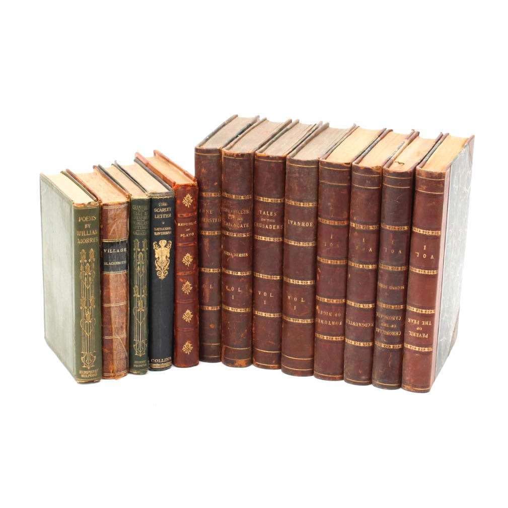 """Antique and Vintage Literature Featuring """"The Waverley Novels"""""""