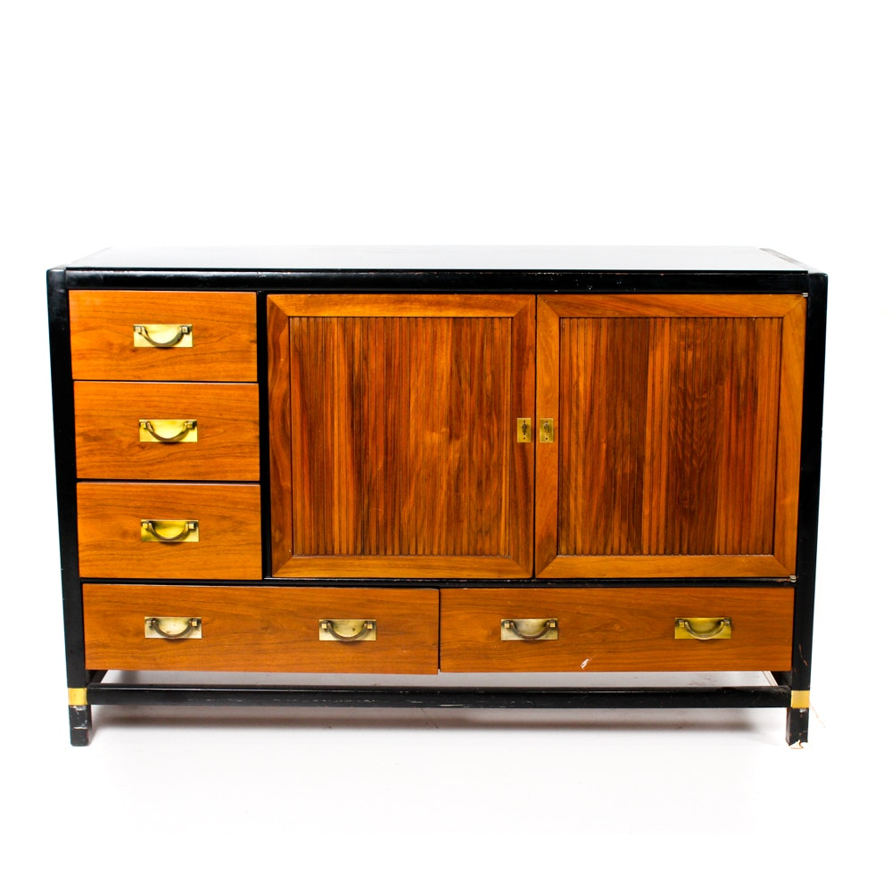 Mid Century Teak Tung Si Buffet by Hickory Furniture