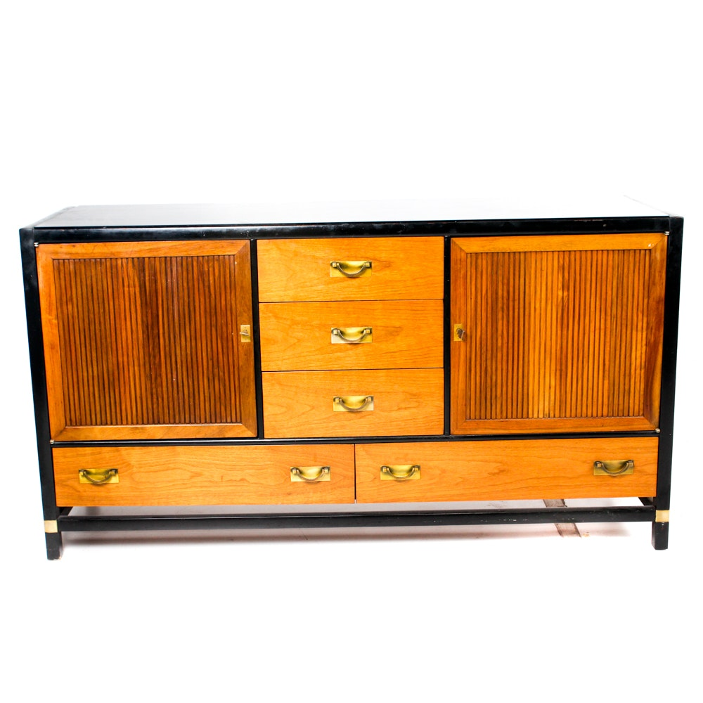 Mid-Century Teak Tung Si Buffet by Hickory Furniture