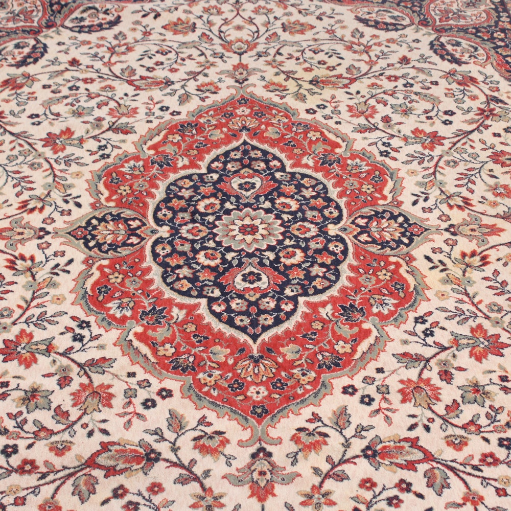 Hand-Knotted European Persian Tabriz Style Room Size Rug