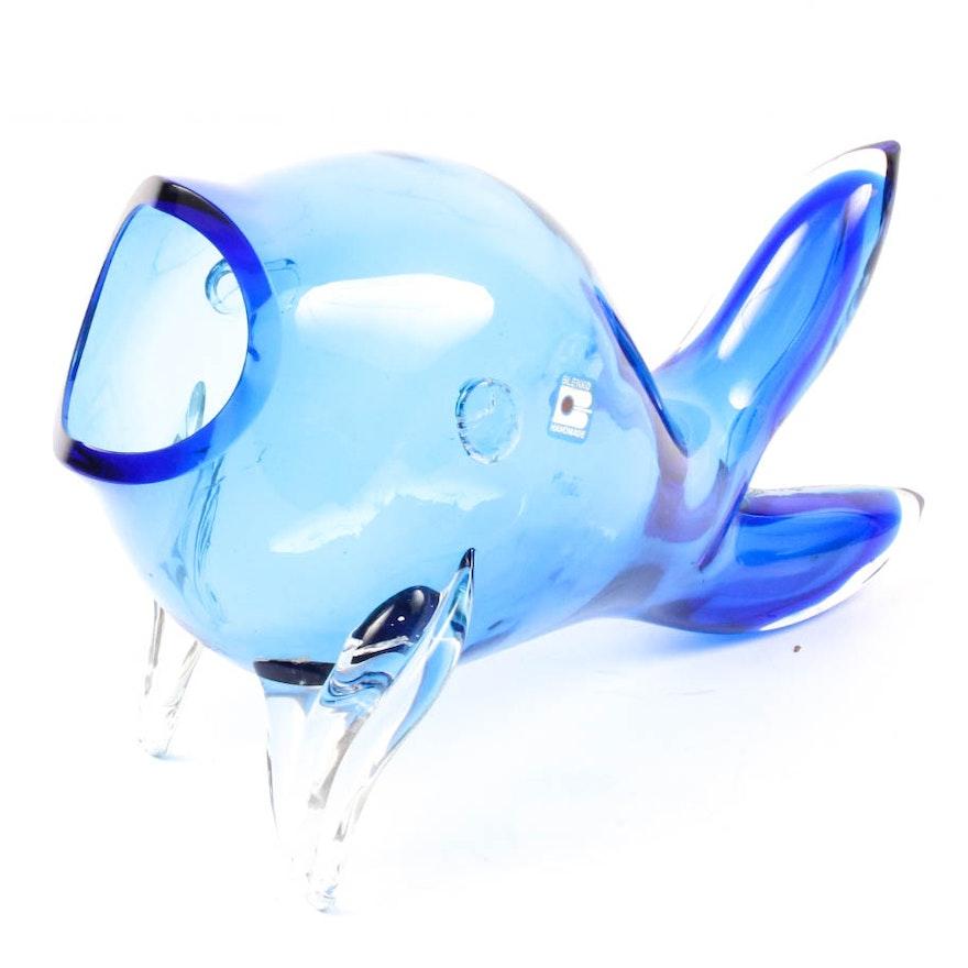 Blenko Art Glass Fish Ebth