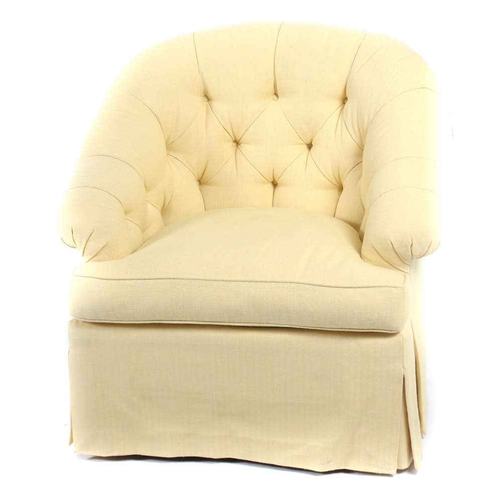 Curved Back Tufted Armchair