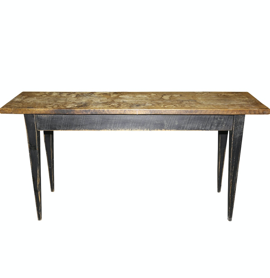 Pine console table ebth pine console table geotapseo Gallery