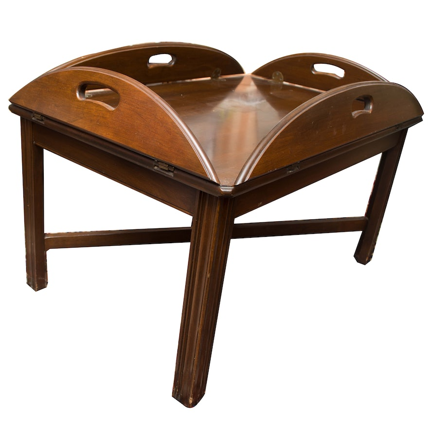 Cherry Butler S Tray Coffee Table By Ethan Allen Ebth