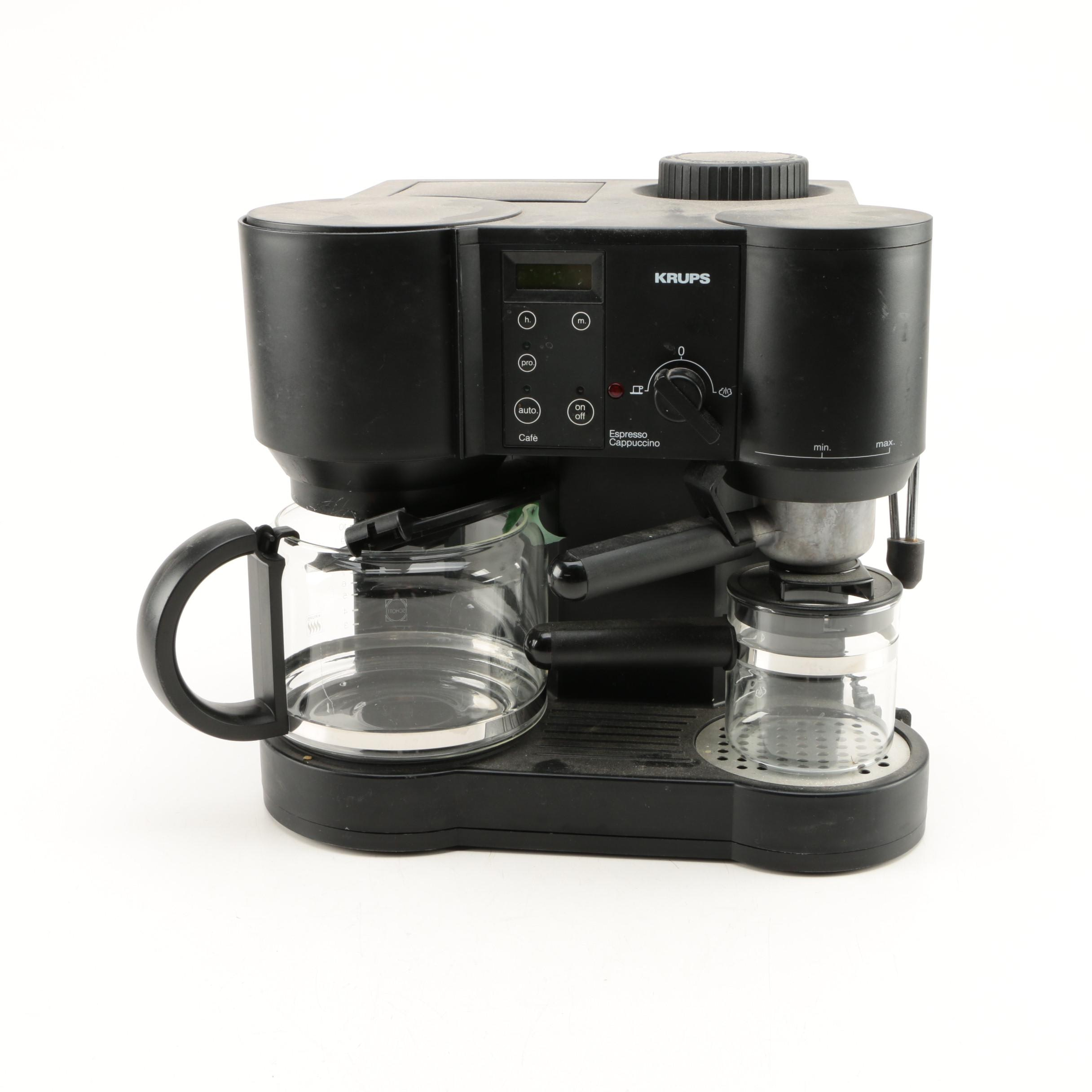 krups espresso maker krups coffee makers u0026 grinders krups xp604050 combi espresso machine. Black Bedroom Furniture Sets. Home Design Ideas