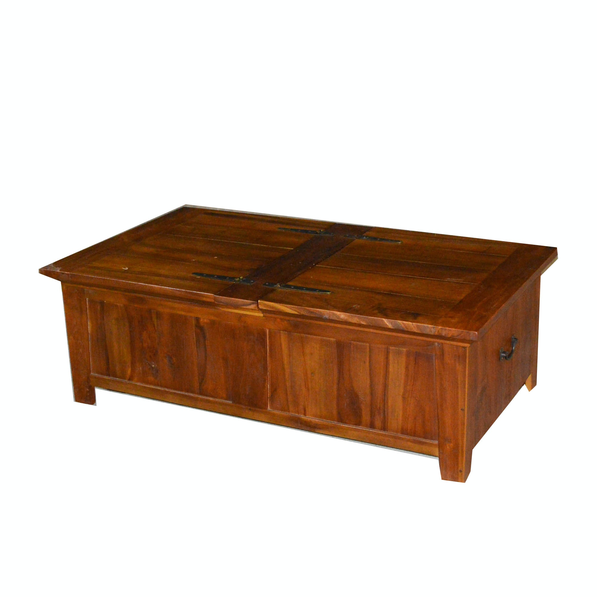 Charmant Rustic Hand Crafted Coffee Table With Hinged Storage ...