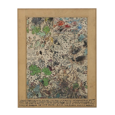 Howard Finster Wipe Rag Art