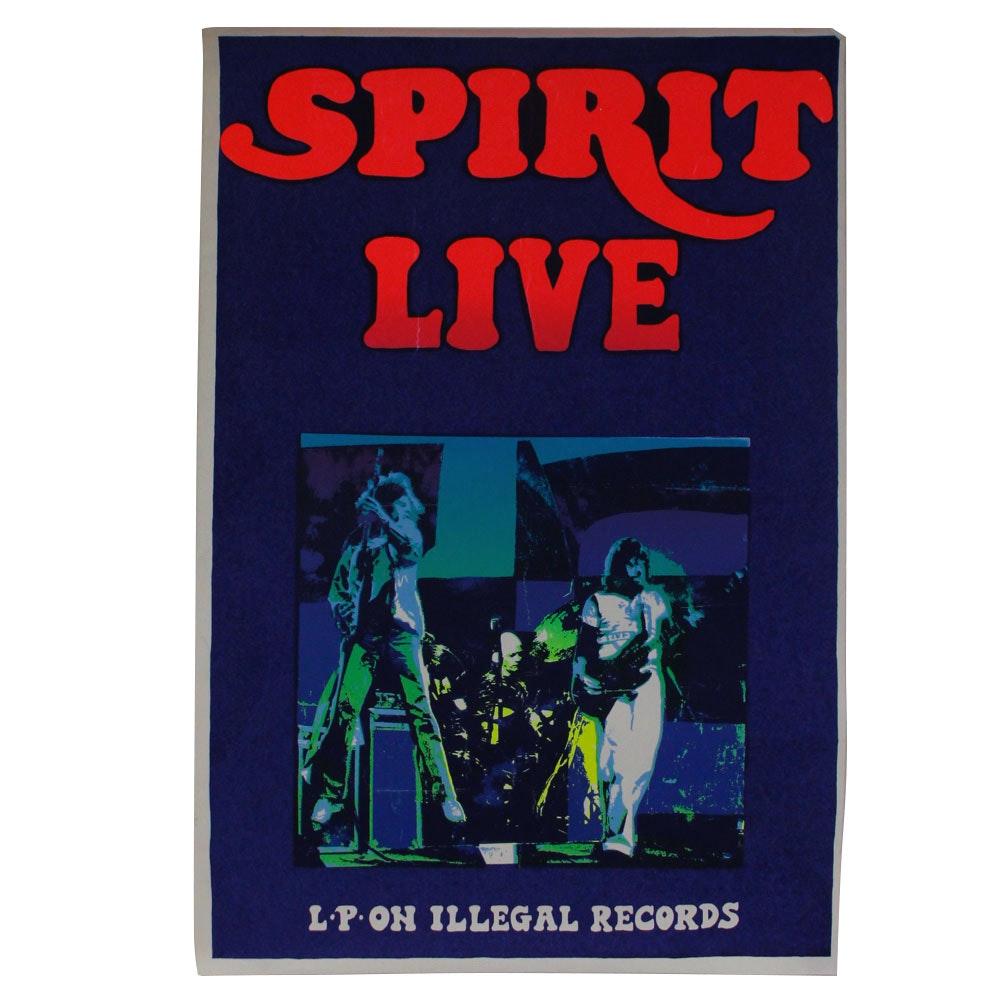 "1978 Original Spirit ""LIVE"" Screen Print Promo Poster"