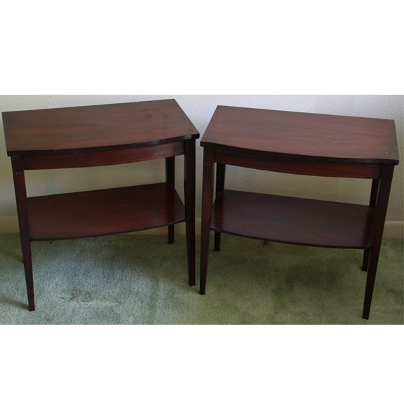 Pair Of Federal Style Mahogany End Tables