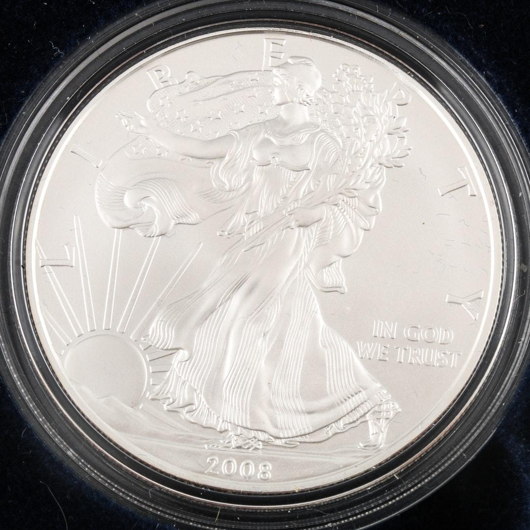 2008 W Walking Liberty Silver Eagle Bullion Coin
