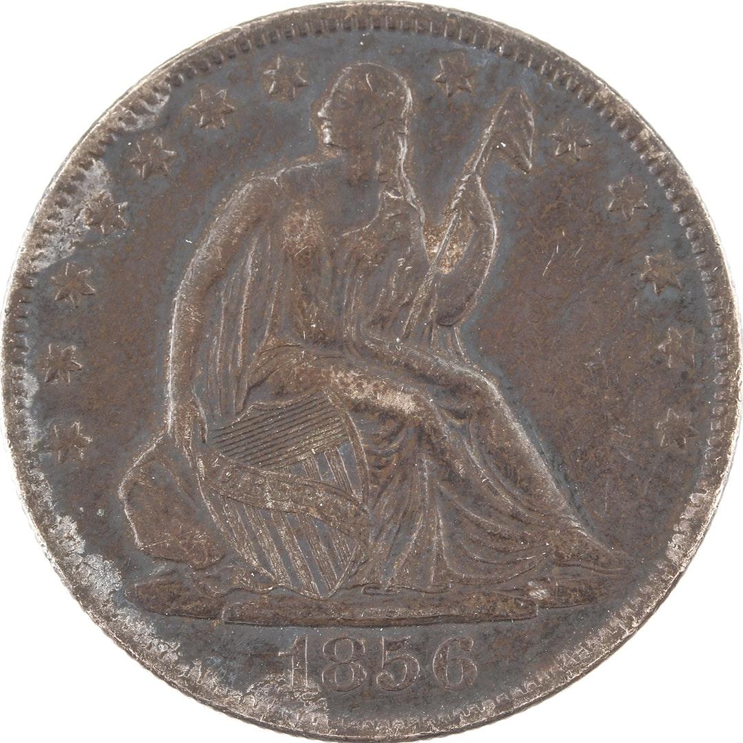 1856 O Liberty Seated Silver Half Dollar