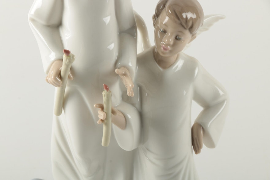 Nao by lladro figurine of two angels ebth - Consider including lladro porcelain figurines home decoration ...