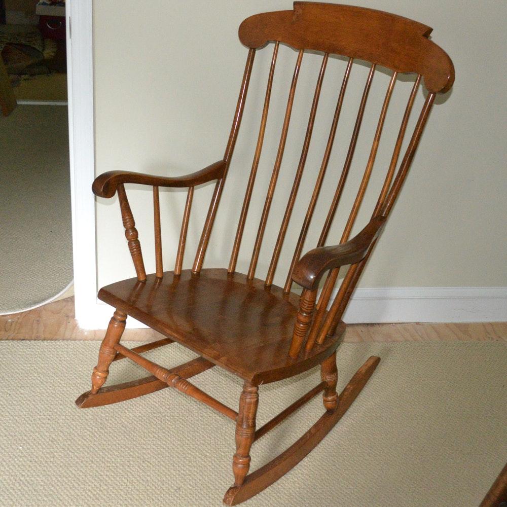 Windsor Style Rocking Chair Ebth