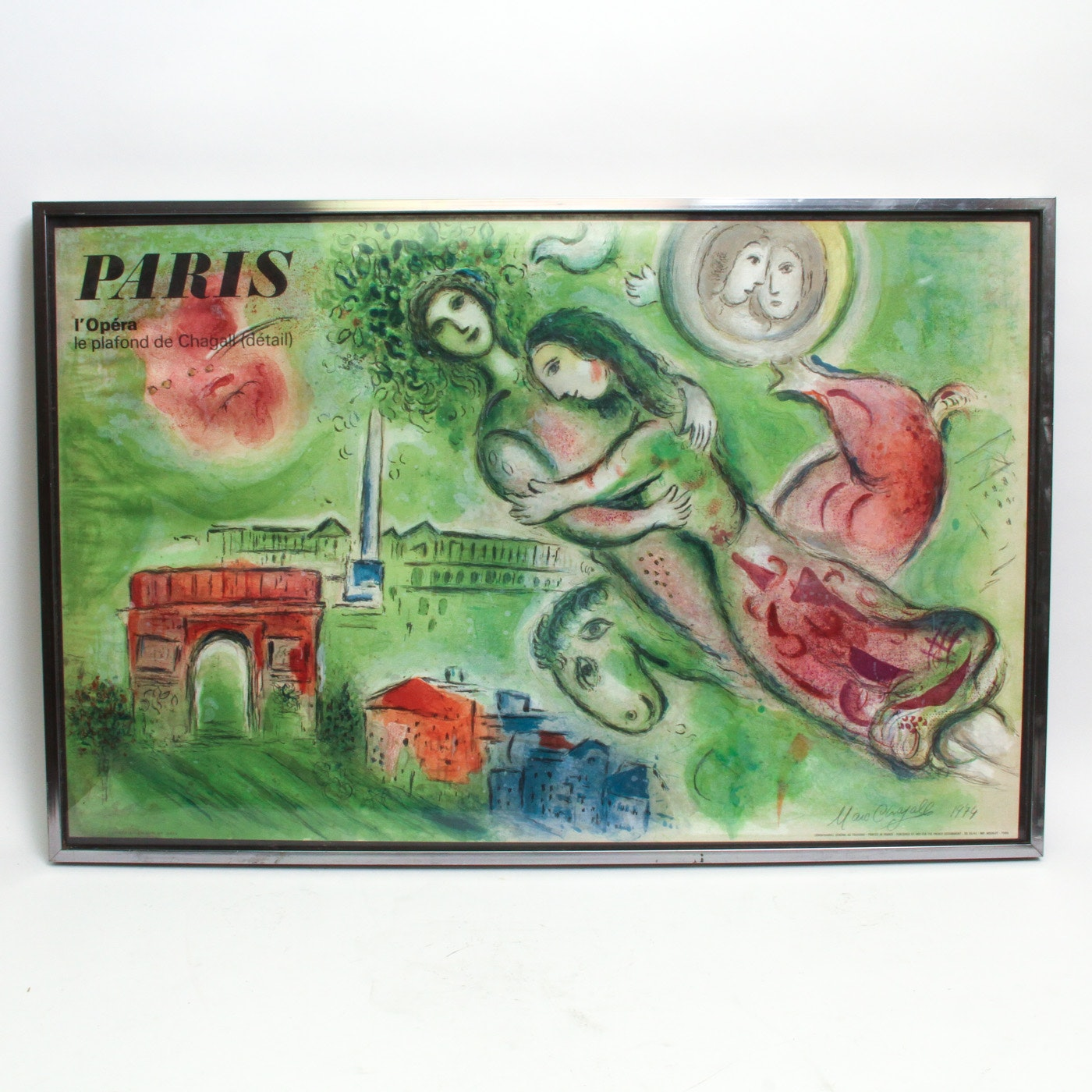 "Lithograph on Paper After Marc Chagall ""Romeo and Juliet"""