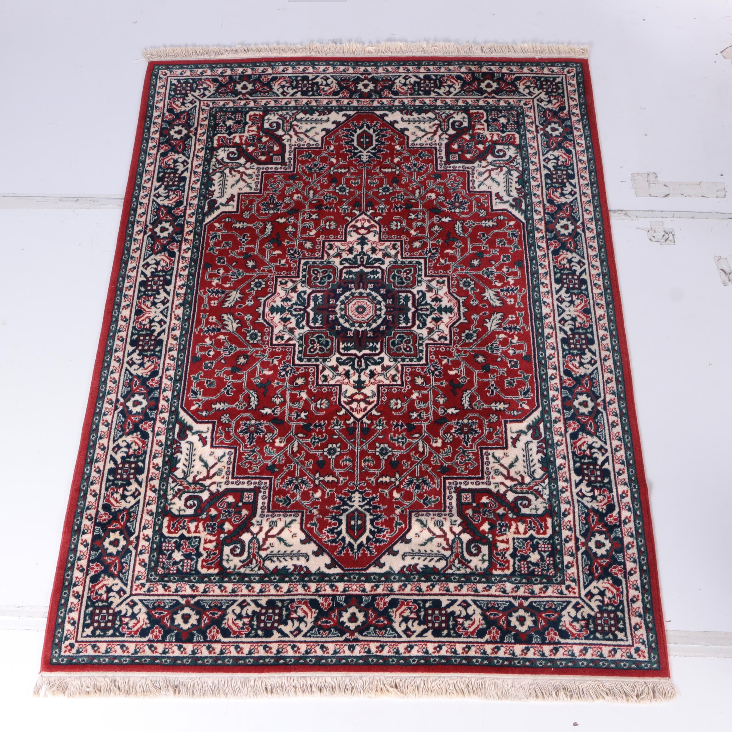 Machine Made Heriz Serapi-Style Area Rug