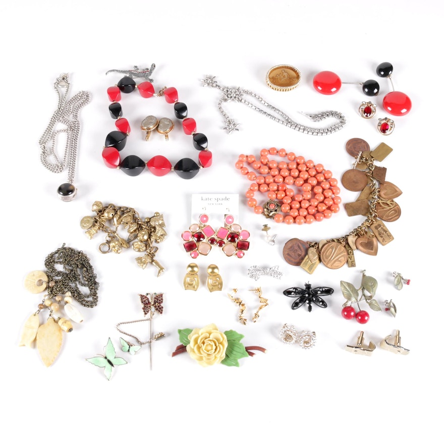 402636336998 Selection of Costume Jewelry Including Kate Spade and Ralph Lauren   EBTH