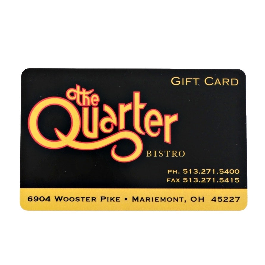 $250 Gift Certificate to The Quarter Bistro in Mariemont, Ohio