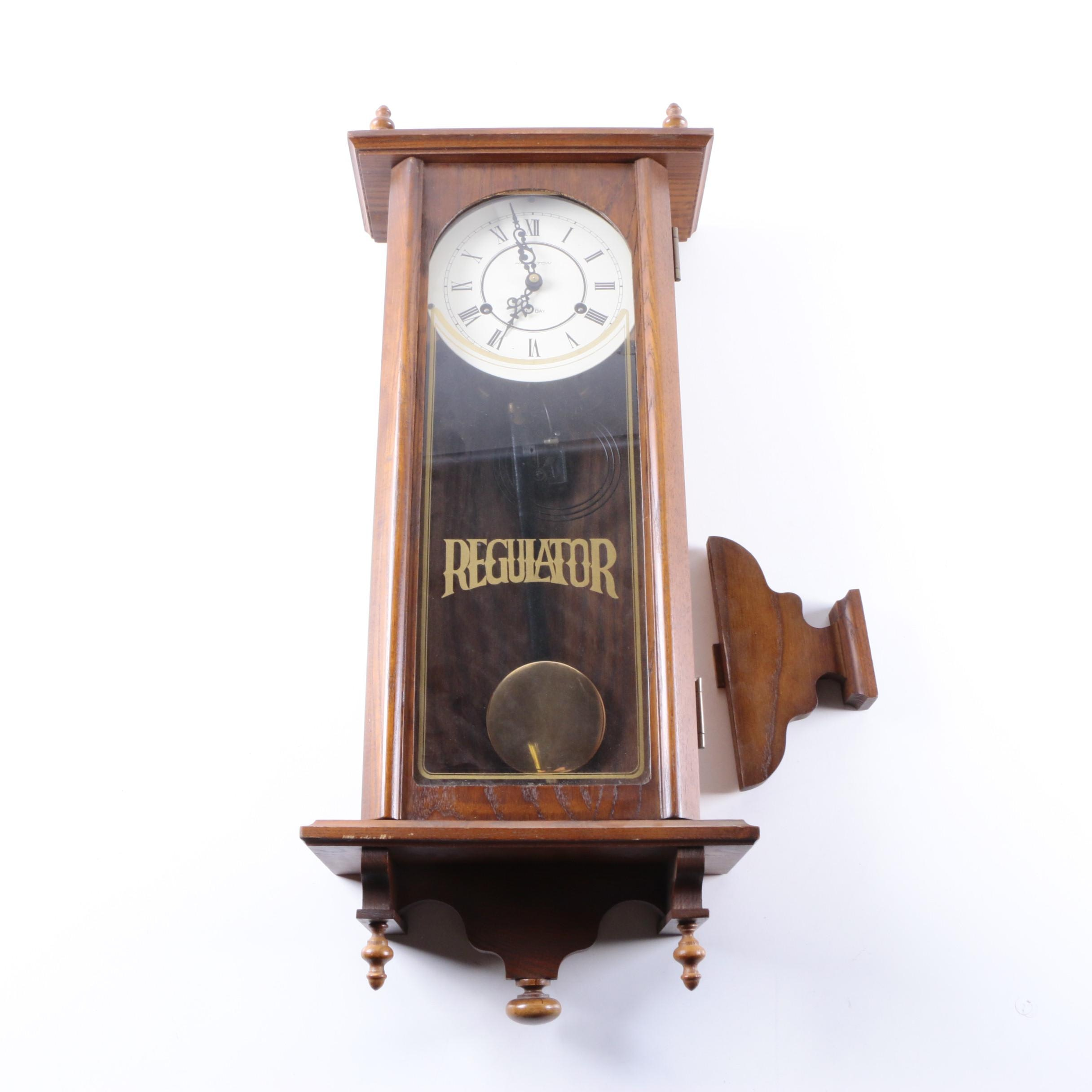 Pendulum wall clock mission wall clocks antique mission style hamilton wooden pendulum wall clock amipublicfo Image collections