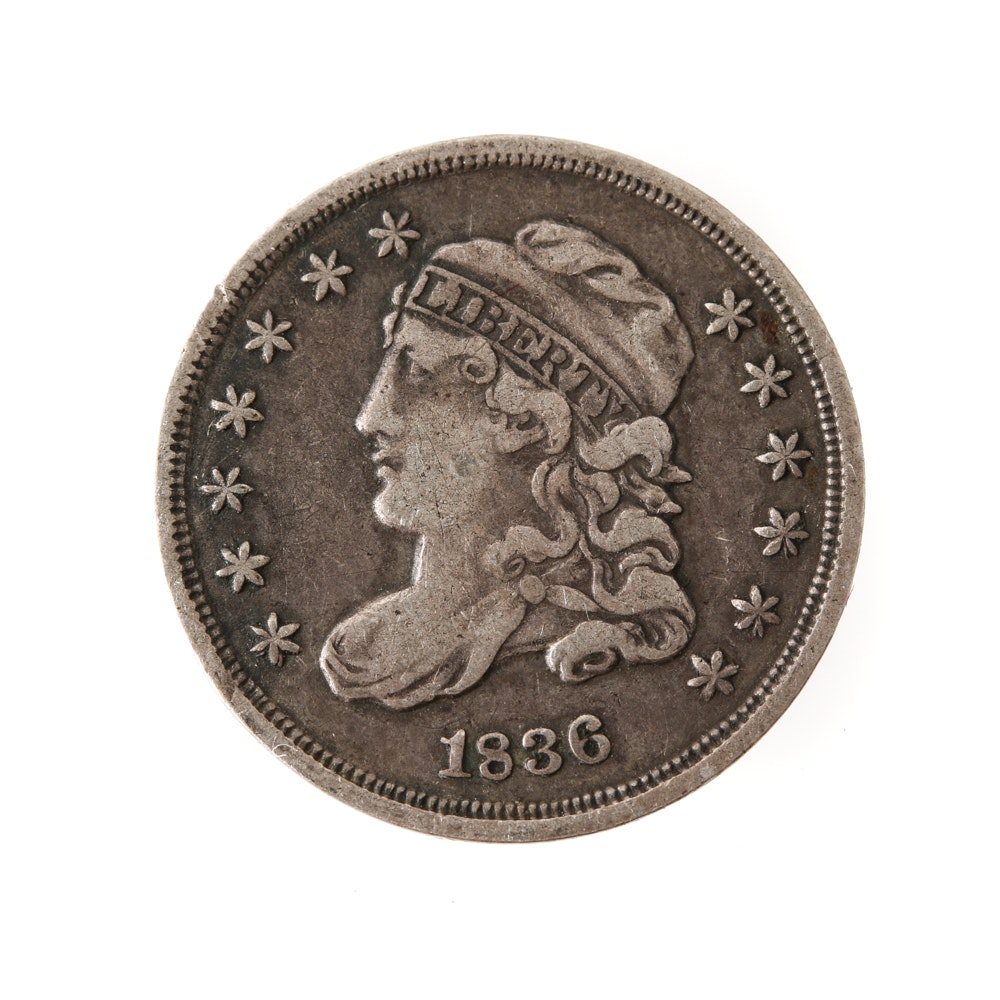 1836 'Large 5 C.' Variety Capped Bust Half-Dime