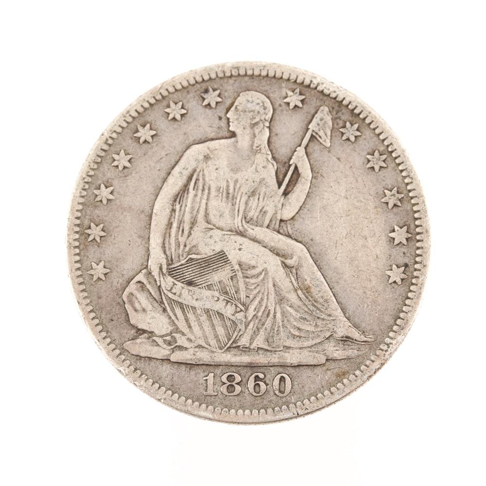 1860 O Liberty Seated Half-Dollar
