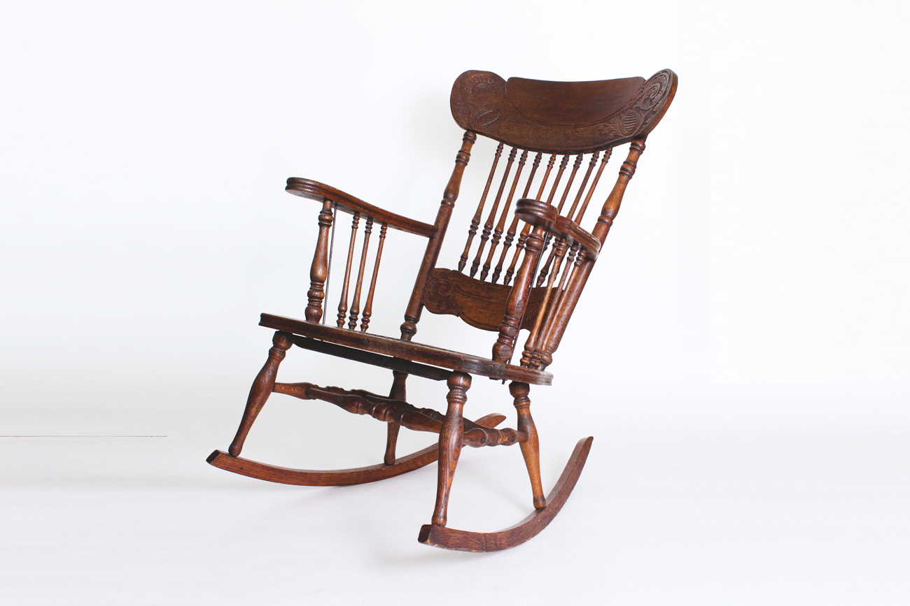 antique wooden rocking chairs Antique Wooden Rocking Chair : EBTH antique wooden rocking chairs