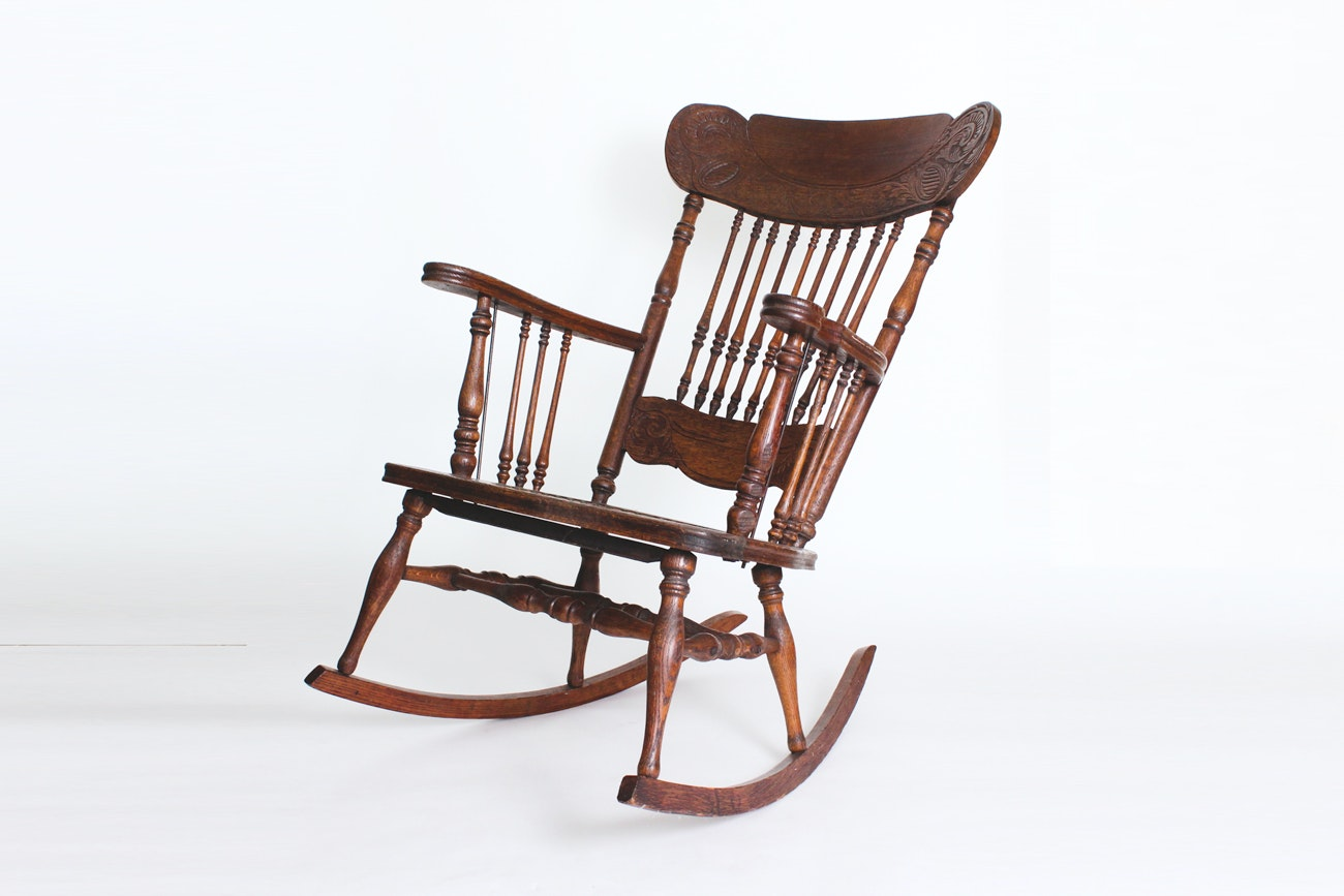 Marvelous Antique Wooden Rocking Chair ...