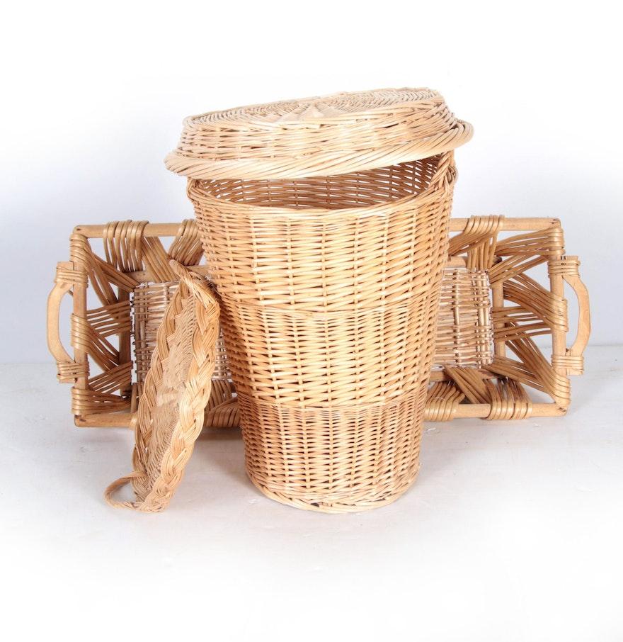 Reed wicker basket d cor ebth for Wicker reed