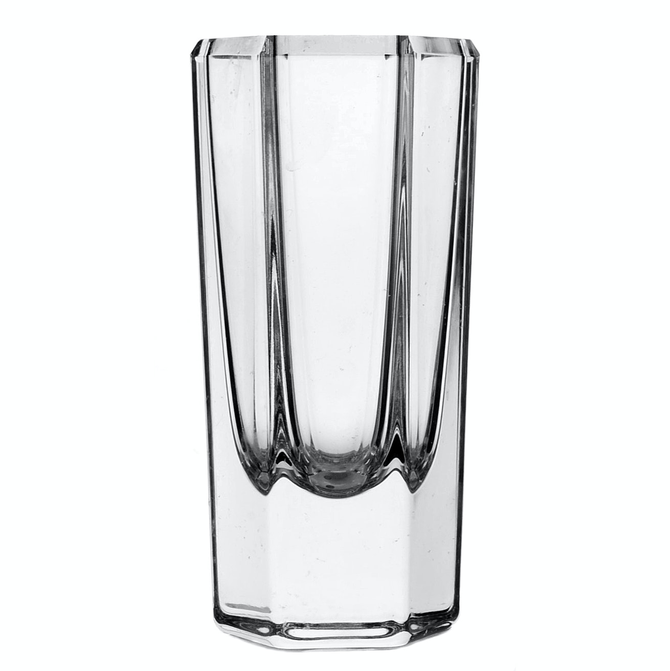 Kosta Bode Edenfalk Six Sided Crystal Vase