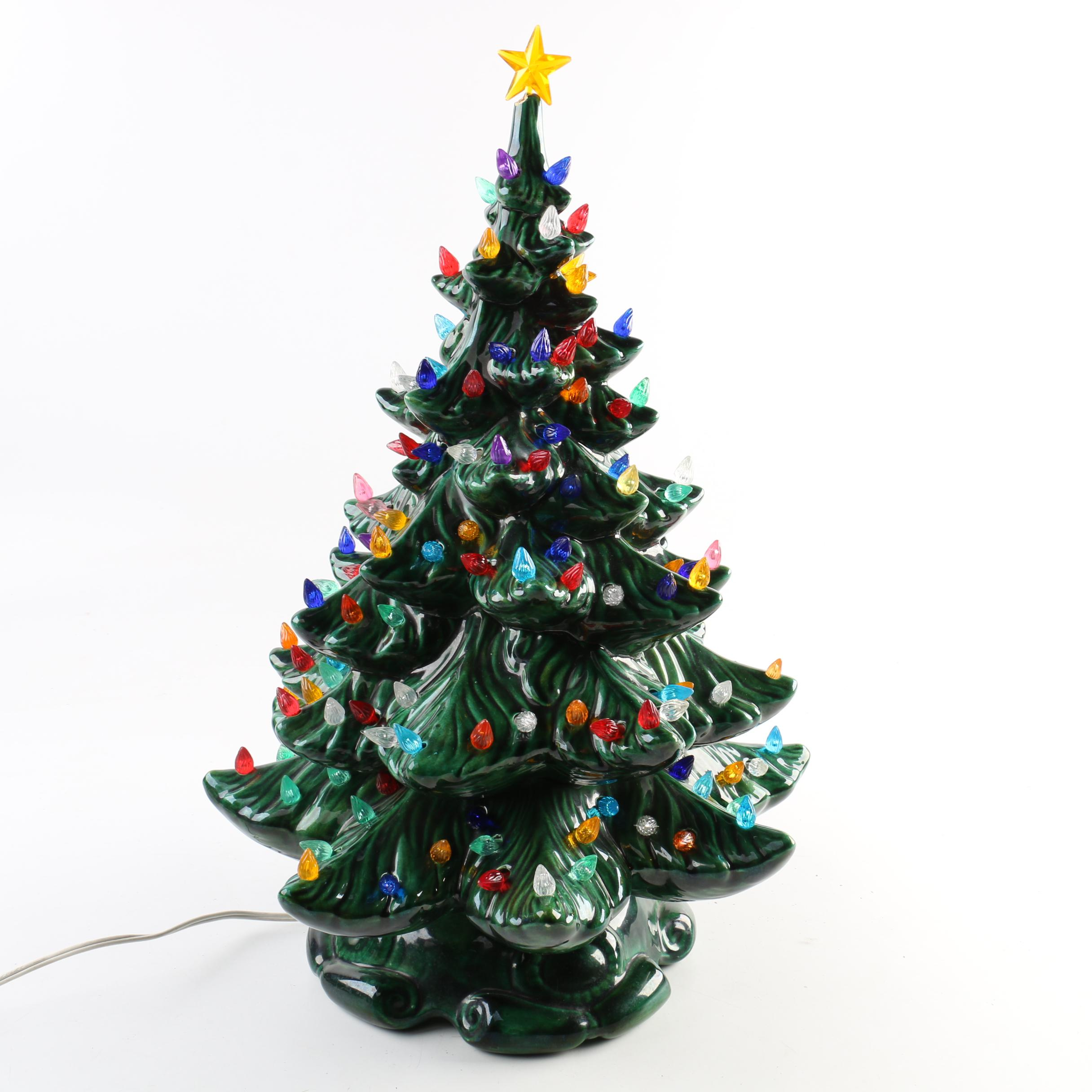 Ceramic Christmas Tree Lamp : EBTH