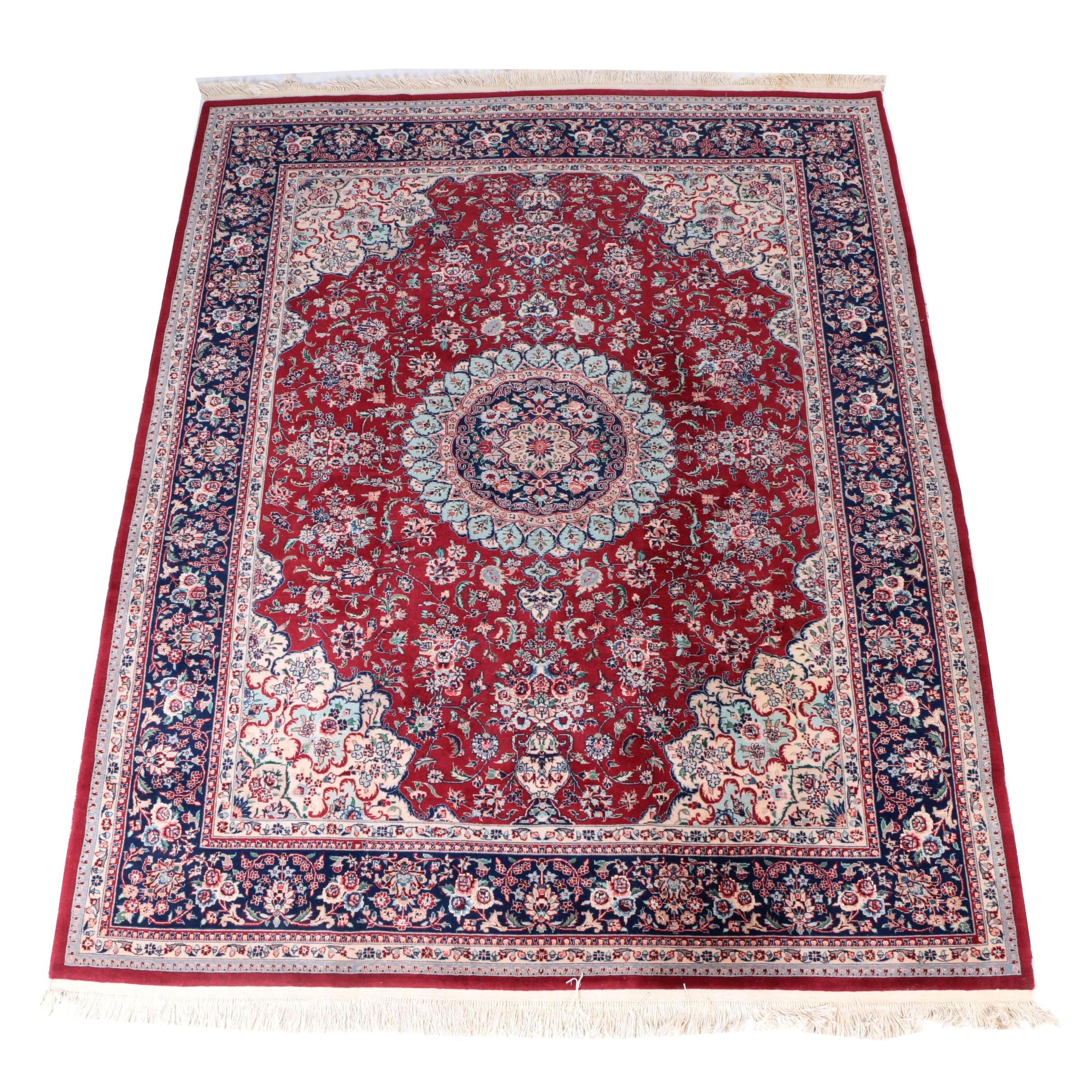 Hand Knotted Sino Persian Isfahan Area Rug
