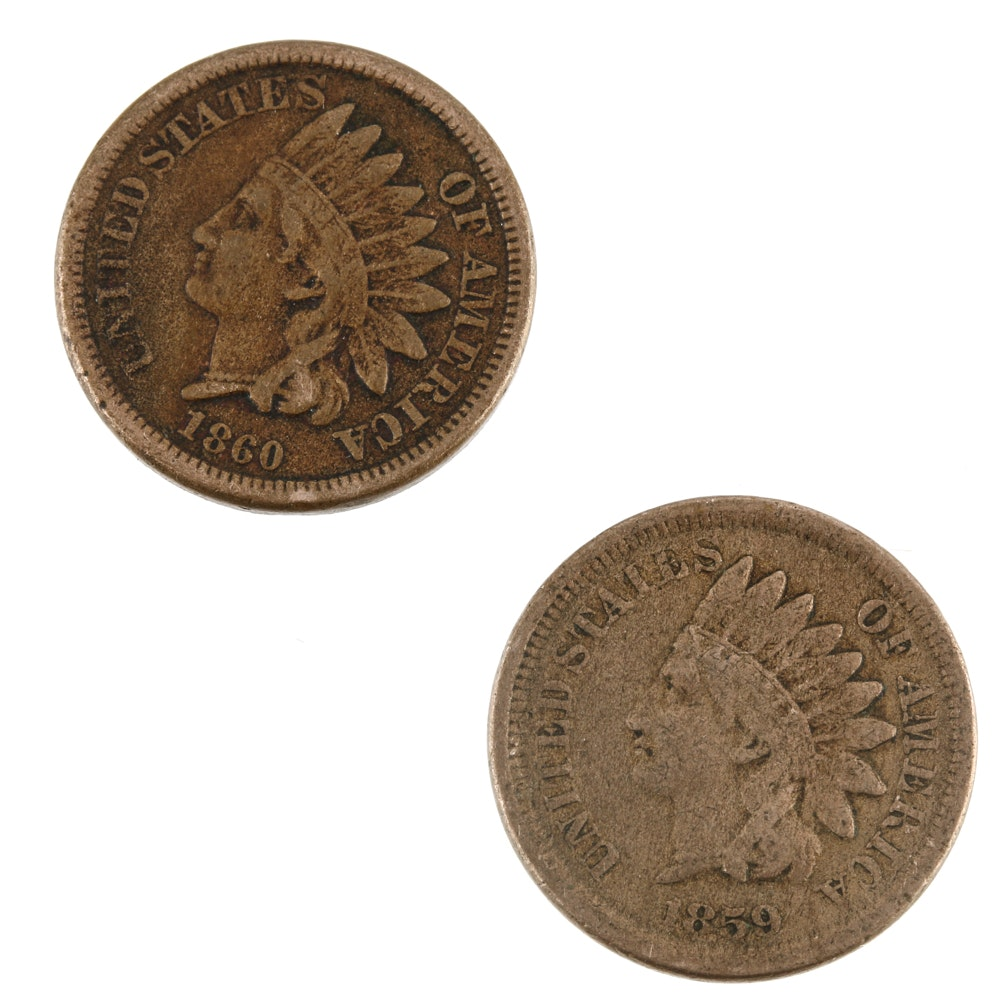 1859 and 1860 Indian Head Cents