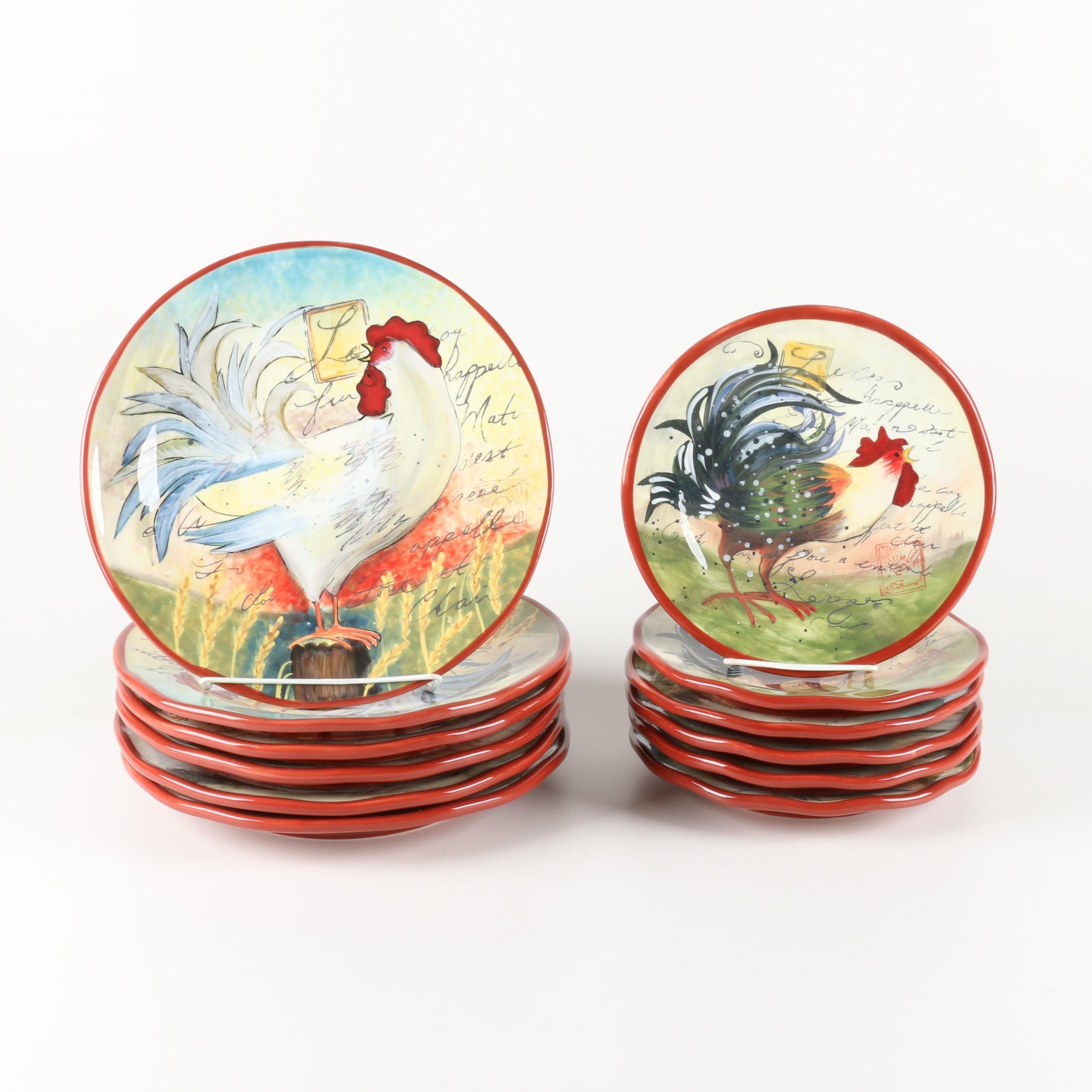 Susan Winget for Certified International \ Le Rooster\u0027 Plates ...  sc 1 st  EBTH.com & Susan Winget for Certified International \