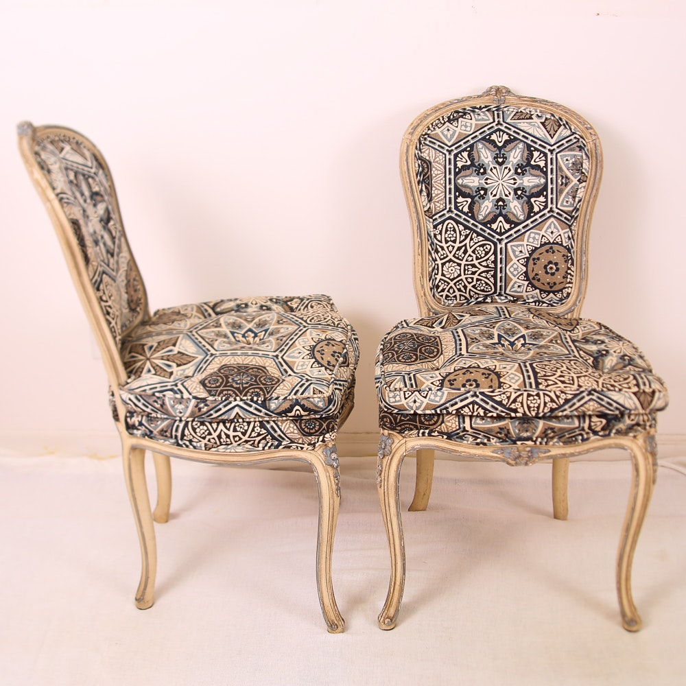 Pair Of Louis XV Style Dining Chairs ...