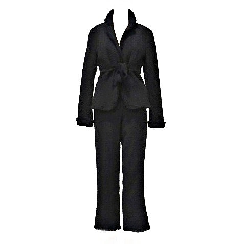 "Moschino ""Cheapandchic"" Black Boucle Jacket and Embellished Pants"