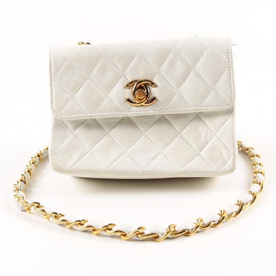 1ce74ce56651 Vintage Chanel Quilted Crossbody Flap Purse : EBTH