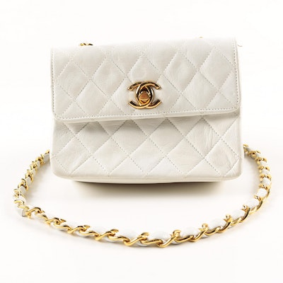 Vintage Chanel Quilted Crossbody Flap Purse