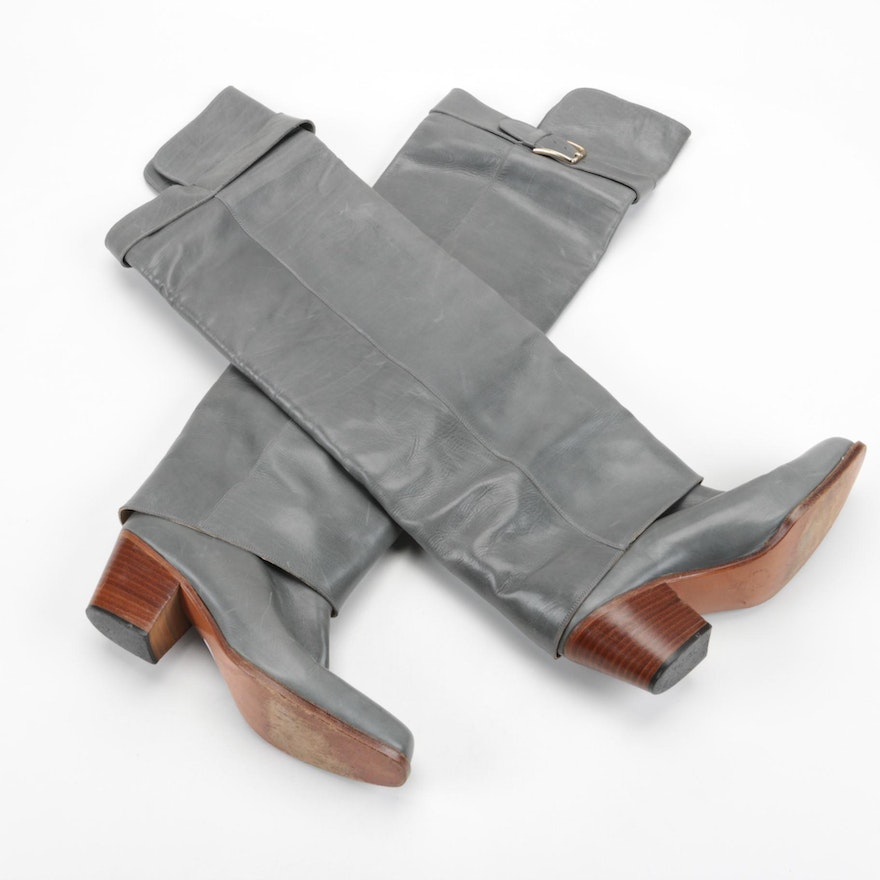 Women's Guido Pasquali Grey Leather Boots