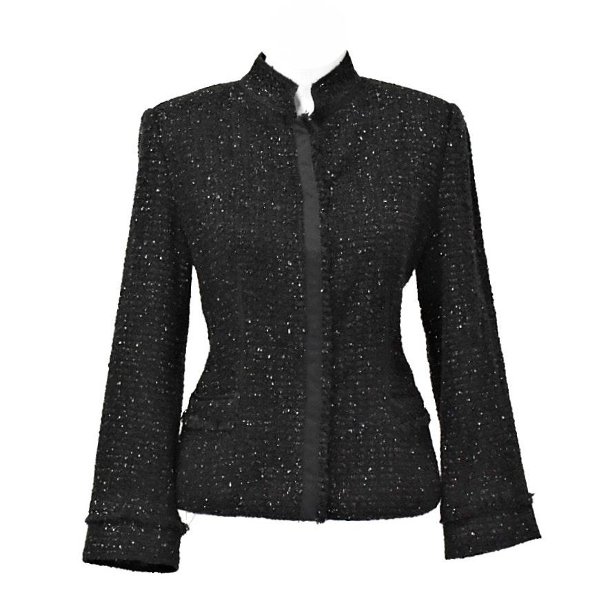 Black Sparkle Armani Collezioni Jacket
