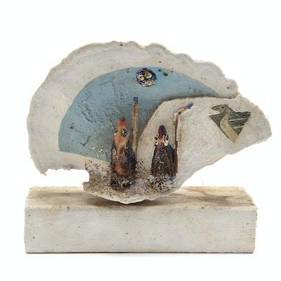 """Norman Scott Quinn Folk Art Sculpture """"Sho-Be-Do-Be-Do"""""""