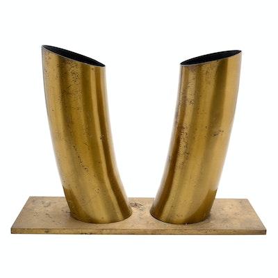 Louise Pershing Brass Sculpture