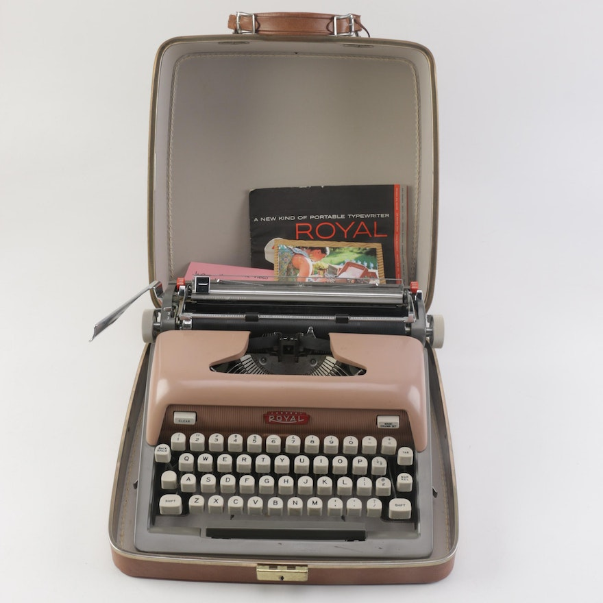 Royal Futura 800 Typewriter and Case