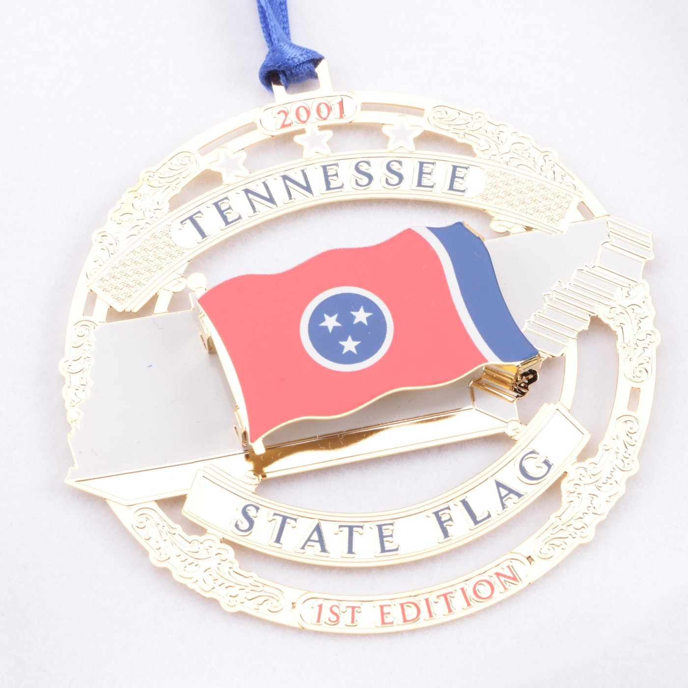 Pair of Tennessee Commemorative Christmas Tree Ornaments ...