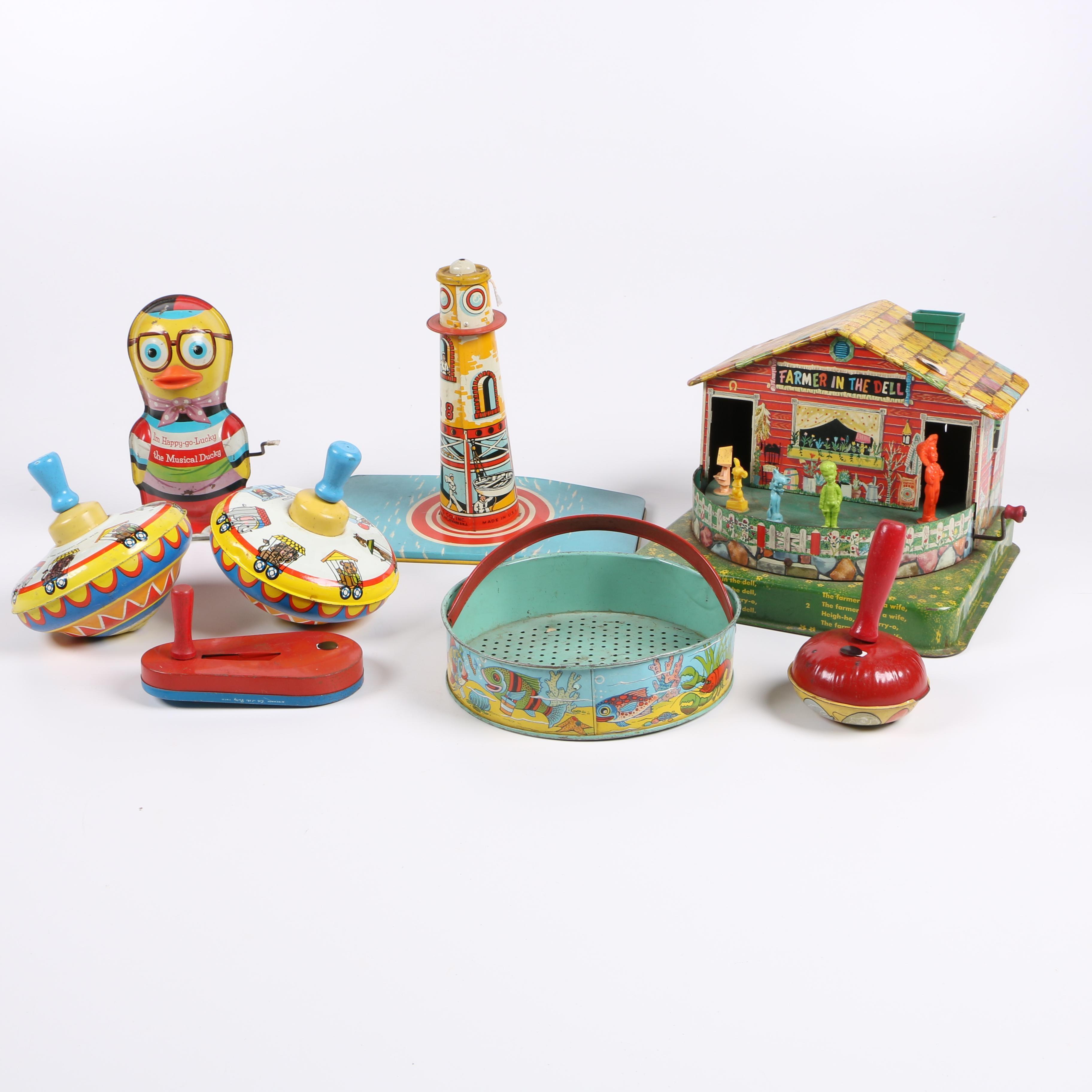 1950s Tin Litho Toys
