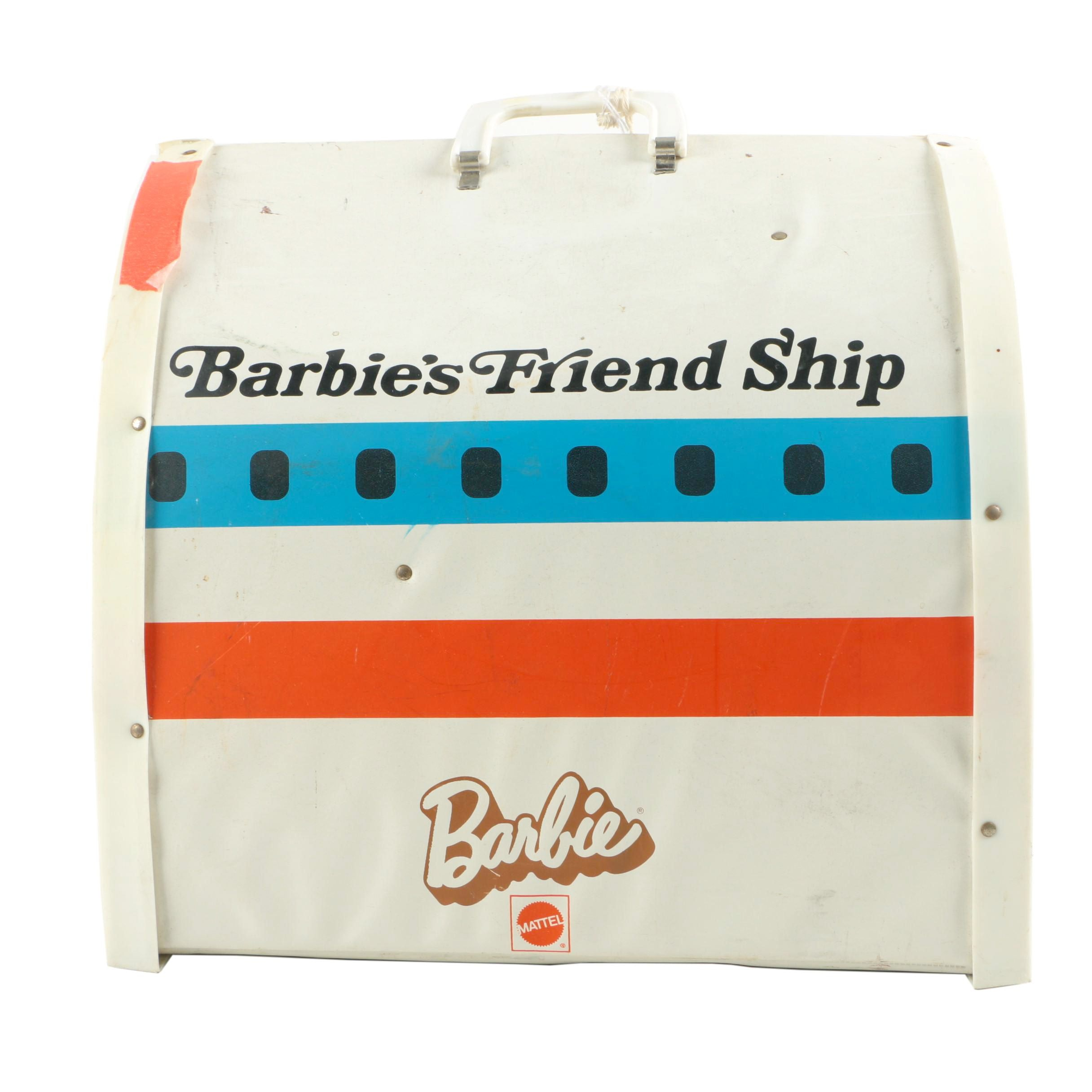 "1972 Barbie's ""Friend Ship"" United Airlines Plane Playset"