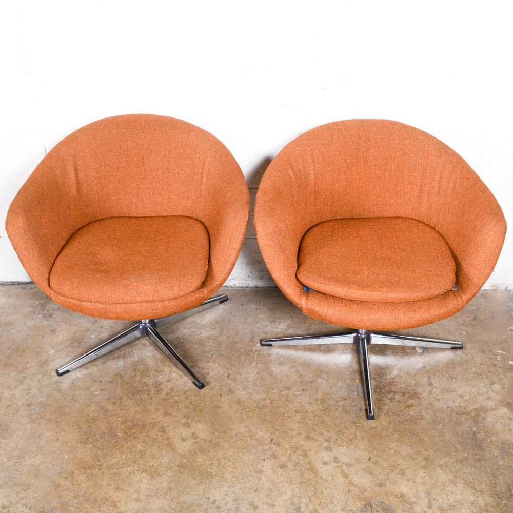 Pair Of Mid Century Modern Style Lounge Chairs After Klote For Overman ...