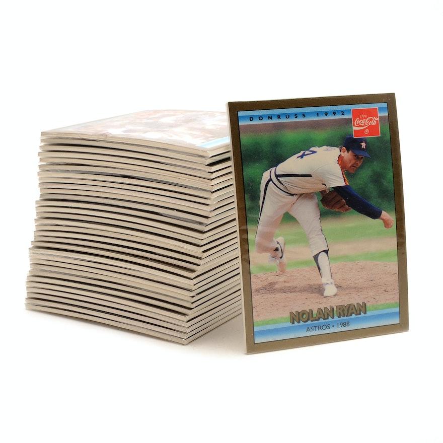 Thirty 1992 Nolan Ryan Coca Cola Donruss Baseball Cards