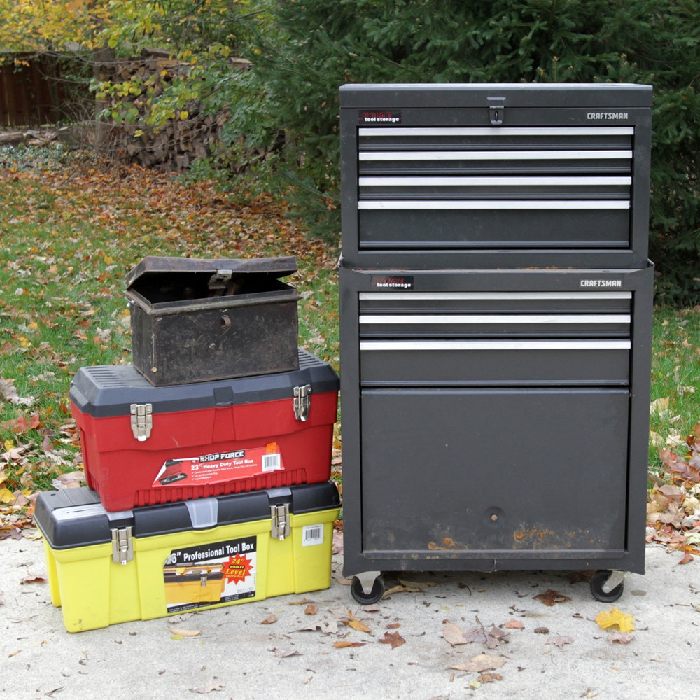 craftsman tool chest tool boxes and assorted tools