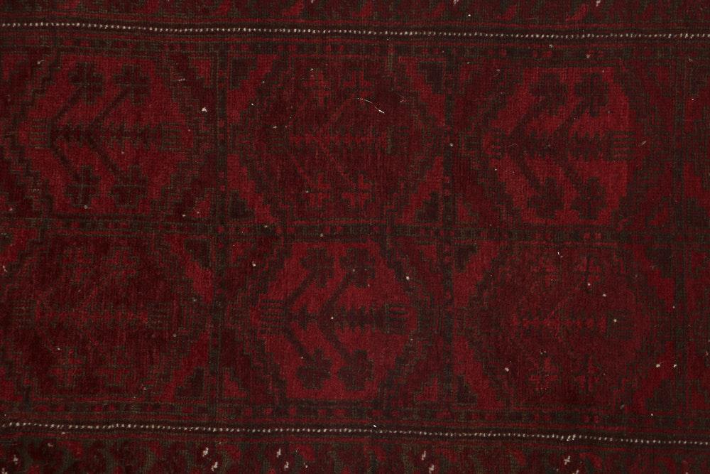 Semi Antique Finely Hand Knotted Turkmen Ersari Wool Area