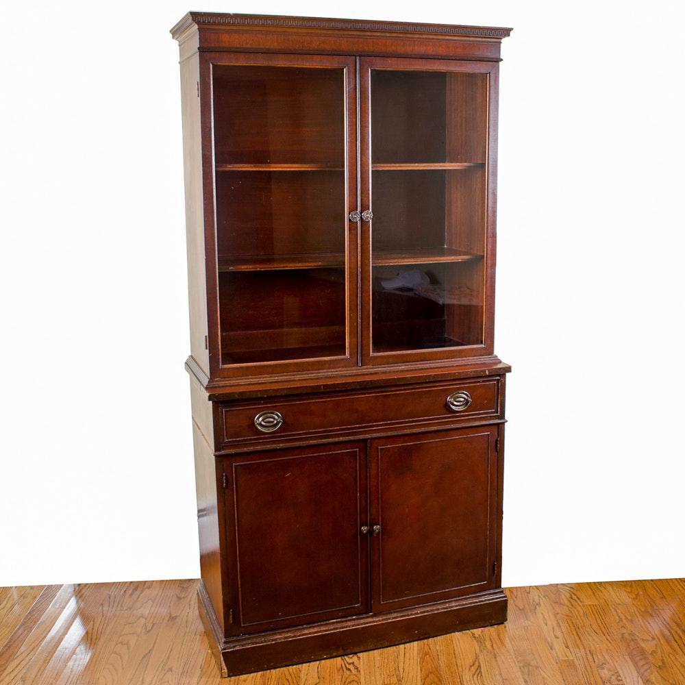 Mahogany Veneer Display Cabinet By Thomasville Chair Company ...