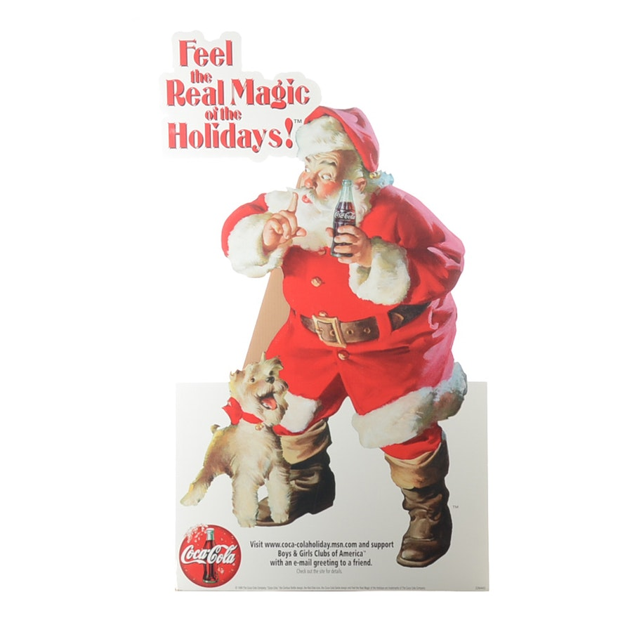 1999 feel the magic coca cola santa claus holidays standee ebth 1999 feel the magic coca cola santa claus holidays standee m4hsunfo